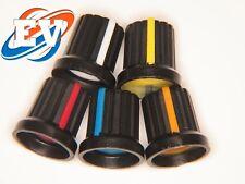 5x Embellecedor boton potenciometro 6mm diámetro 15mm * 15mm 5 colores