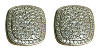 Designer Inspired 925 Sterling Silver Albion Earrings with 2.37Ct Diamonds, 17mm