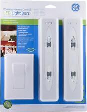 GE Wireless Remote Control LED Light Bars, 2-Pack, Bright White Light