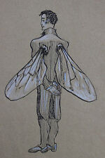 Original artwork Drawing Of Fairy Man. Unframed.