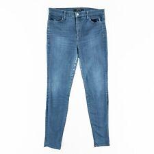 J Brand Maria Skinny High Rise Womens 31 Stretch Denim Jeans Medium Wash Blue