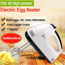 7Speed  Electric Powered Handheld Mixer Whisk Egg Beater Cake & Baking Kitchen #