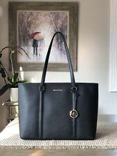 Michael Kors Shopper Tote Bag Sady Black Gold X Large Saffiano Leather Handbag