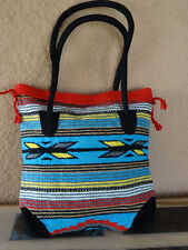 Monterey Tote Bag OPMONT-L2 Handwoven Southwestern Southwest  Bag with closure