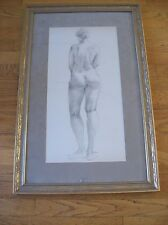 Gene Szafran  pencil drawing  nude