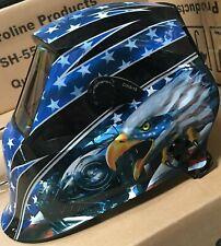 Aew7 4 Senser Weldinggrinding Helmet Auto Darkening Cheater Lens Ready Hood