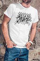MORBID ANGEL Men White T-shirt Death Metal Band Tee Shirt Entombed Deicide