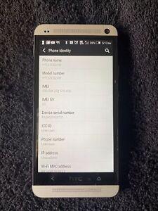 HTC One M7 HTC6500LVW 32GB Silver Verizon 4G LTE Smartphone W/ Beats Audio