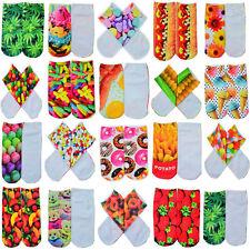 HOT Men Women's Creative Low Cut Ankle Socks Cotton 3D Printed Animals 1 Pair