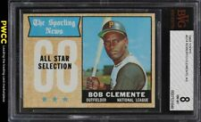 1968 Topps Roberto Clemente ALL-STAR #374 BVG 8 NM-MT