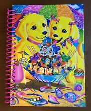 Vintage Lisa Frank Spiral Cardboard Notebook Ice Cream Dogs/Puppies
