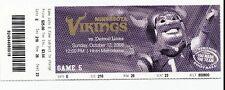 2008 MINNESOTA VIKINGS VS DETROIT LIONS TICKET STUB 10/12/08