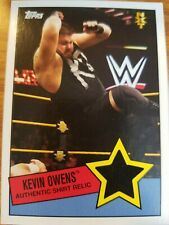 2015 Topps WWE Heritage Kevin Owens Authentic Shirt Relic NXT Rookie RC