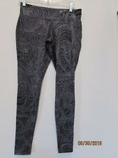 Women size M Mossimo Supply Active Leggings Black with Crazy Dots Stars Swirls