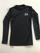 Under Armour Long Sleeve Base Layer Shirt Youth Small Black Compression