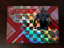 2018 Elite Draft Auto Red Nyheim Hines NC State Colts Rookie RB #'d 19/20