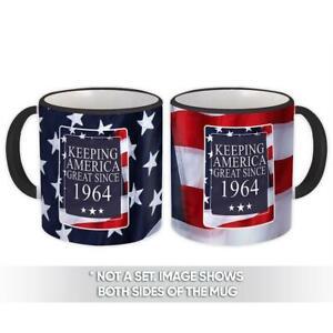 Gift Mug : America Great 1964 Birthday Keeping Classic Flag Patriotic Age USA