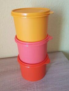 Tupperware 3x Kaffeedosen Vorratsbehälter Schüsseln Schüsselset 3x 1,1 Liter Neu