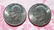 1971 D & 1972 D Eisenhower Dollar Coins