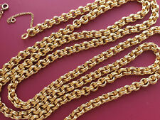Ancien long  collier  maille jaseron double OR  18 K  - 750 /1000  -  84 CM