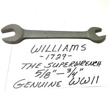 """WWII Williams 1729 Wrench 5/8"""" x 3/4"""" The Superwrench G503 Genuine New Vintage"""