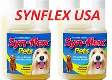 2 BOTTLES OF BEEF FLAVOR SYNFLEX LIQUID GLUCOSAMINE FOR PETS JOINT PAIN SYN-FLEX