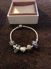 Genuine Pandora Bracelet with 5 Charms