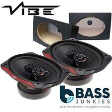 """Vibe SLICK 69.2 3 Way 960 Watts 6x9"""" Car Van Parcel Shelf Speakers & Black Boxes"""