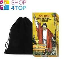 GOLDEN UNIVERSAL TAROT DECK CARDS ESOTERIC LO SCARABEO WITH VELVET BAG NEW