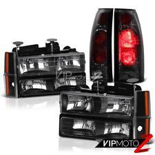 Smoke Red Rear Tail Lights Brake Lamps Chevy CK Suburban Sierra Yukon Headlights