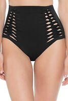 Becca by Rebecca Virtue Women's 236983 High Waist Bikini Bottom Swimwear Size S