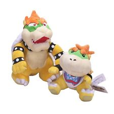 "Super Mario Bros 7"" Bowser Jr. And 10"" Standing Bowser Koopa King Plush Toys"