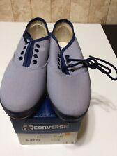 Vintage Converse Nos Women's Belmont Oxford Lavender/Navy Canvas Sneakers 4 M