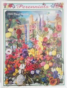 WHITE MOUNTAIN 1000 piece PERENNIALS learn about JIGSAW PUZZLE made in USA