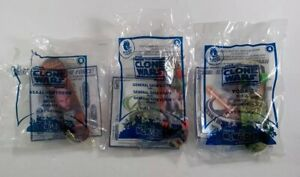 McDonalds Happy Meal Star Wars The Clone Wars #4 Yoda #5 Grievous #9 Ventress