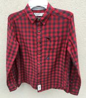 ABERCROMBIE KIDS BOYS Shirt NWT Size 13/14 Red Blue NEW Cotton Long sleeve