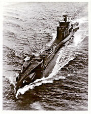HMS Tactician Royal Navy Submarine at sea original period Ariel Photograph