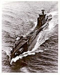 HMS Tactician Royal Navy Submarine at sea original period Ariel Photograph