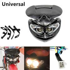 Motorcycle Motocross Headlight Fairing Light Dual Street Fighter Bulb Lamp Kit