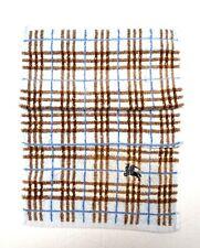 Burberry Hand Towel Gym Designer Nova Check Print Blue Used Cond Auth
