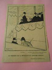 Dessin Cappiello le président de la république au concours hippique Print 1904