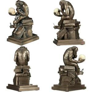 Charles Darwin's Ape Human Evolution Figurine Animal Statue Bronze