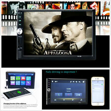 "7"" 2 Din 7012B HD Touch Screen Car FM Blue-Tooth Radio Video MP5 MP4 Player USB"