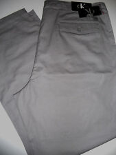 CALVIN KLIEN 42 x 32 Lifestyle Straight Flat Front Mid Weight Glacial Gray Pants