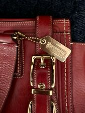 Stunning COACH HAMPTONS CARRY-ALL Style#11086 In Cognac Leather