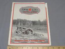 Vintage Twin City 17-28 Tractor early Sales Brochure Catalog Minneapolis Moline