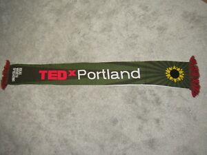 TED X Portland Timbers SCARF Soccer Jim Reversible Talk Event Army Axe Roses OR