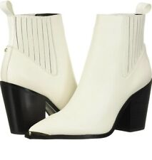 Kenneth Cole West Side Bootie White Ivory Cream BNWB SIZE UK 6 Western Boot