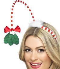Vestito Natale Testa Popper Sulla Fascia Vischio da Smiffys Nuovo