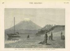 1881 Antiguo Print-Japón volcán Fujiyama Fuji Montaña Sagrada (95)